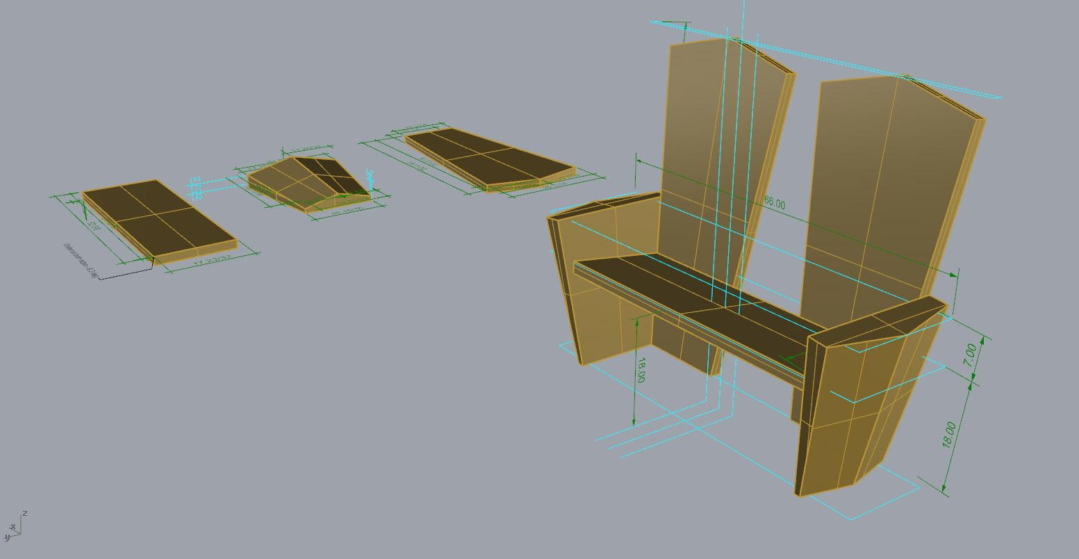 Leanard Moore CNC Bench - Rhino Screenshot