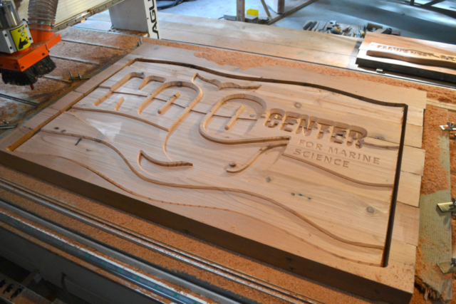 Noyo Sign on CNC Router