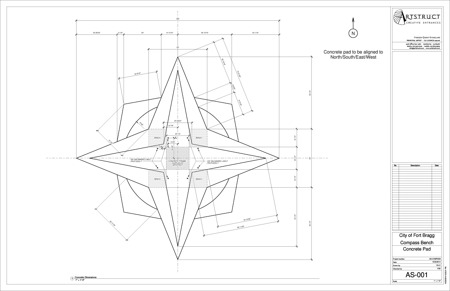 Artstruct HillBench CAD drawing