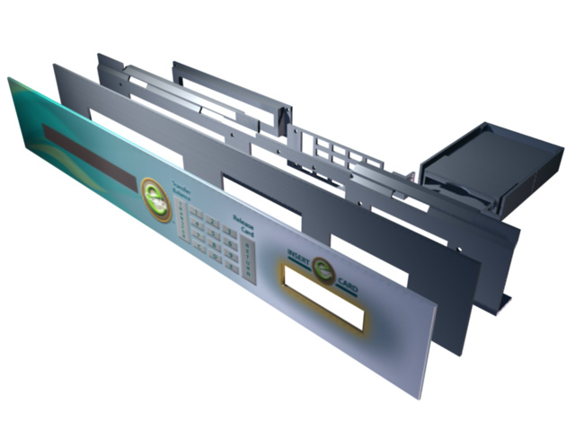MLG Faceplate Assembly rendering illustration