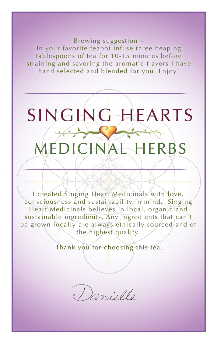 Singing Hearts label - Infuse