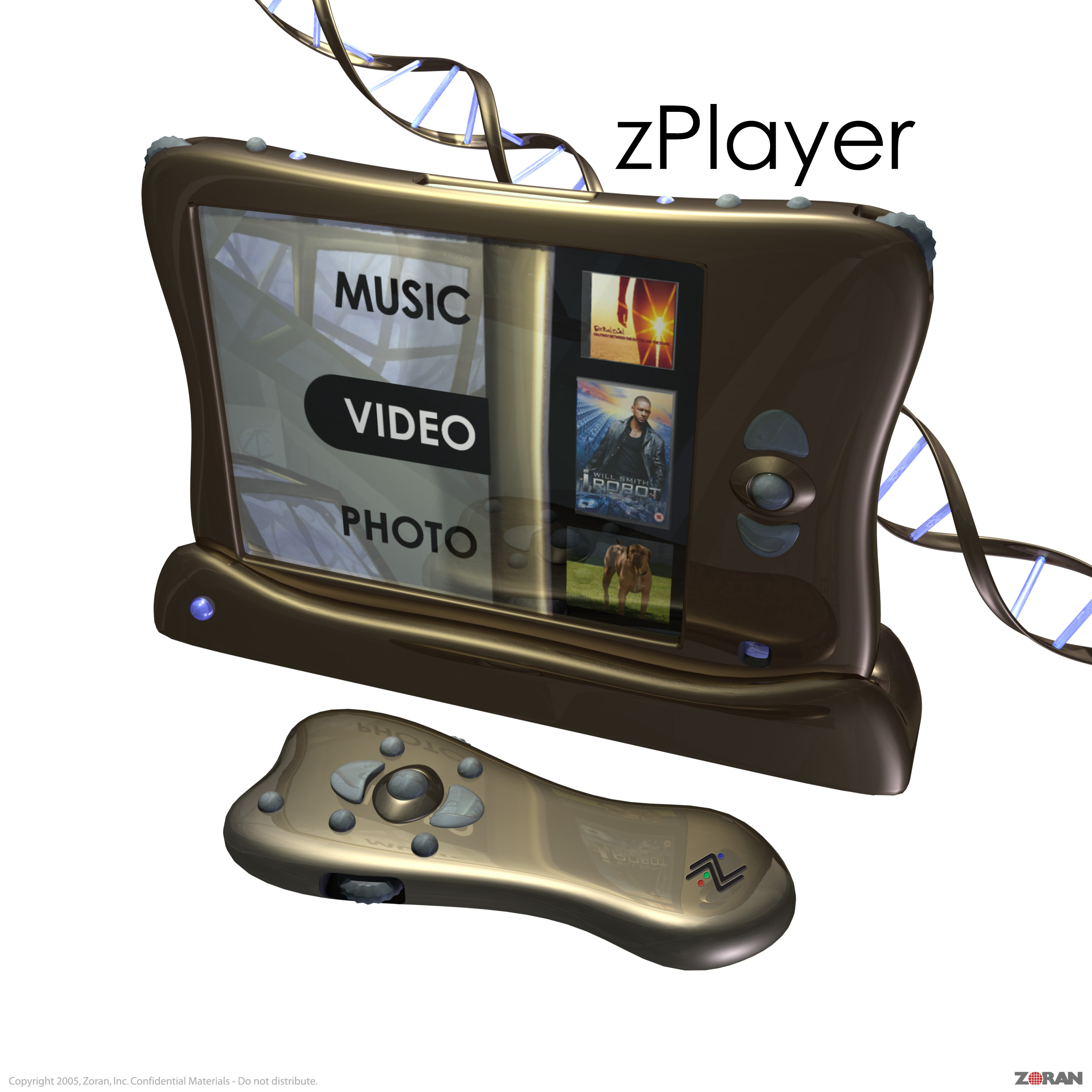 zPlayer Early Concept 3d illustration